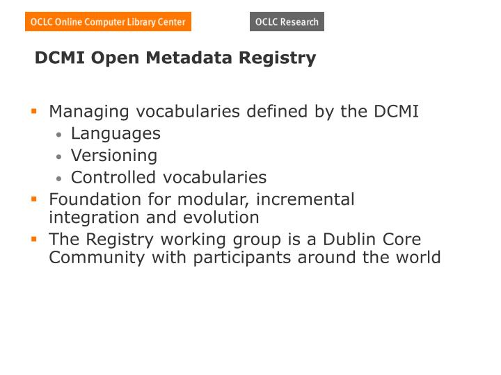 DCMI Open Metadata Registry