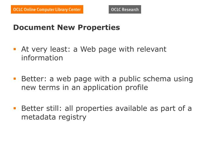 Document New Properties