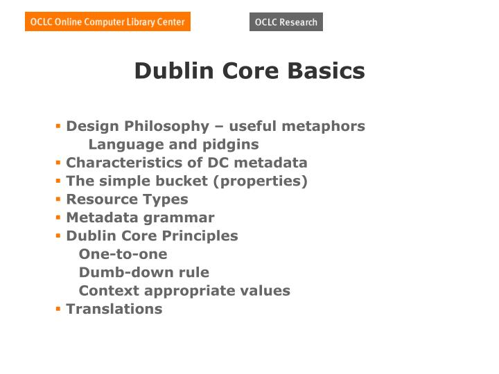Dublin Core Basics