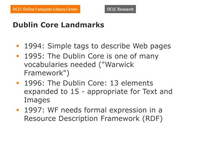 Dublin Core Landmarks