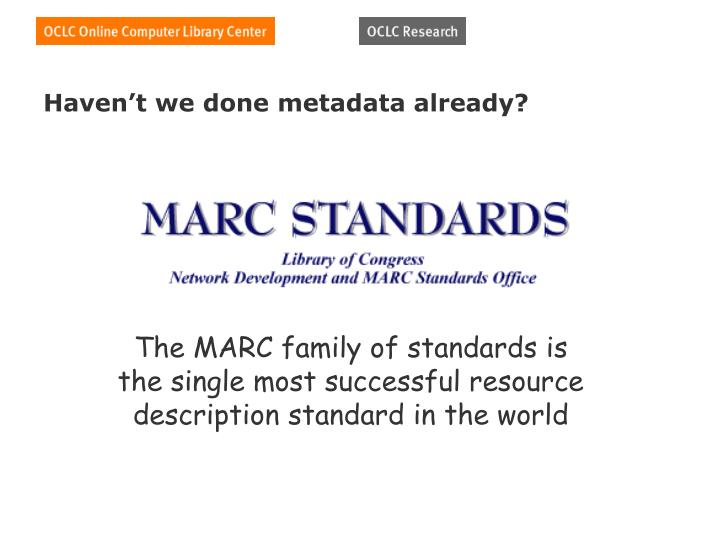 Haven't we done metadata already?