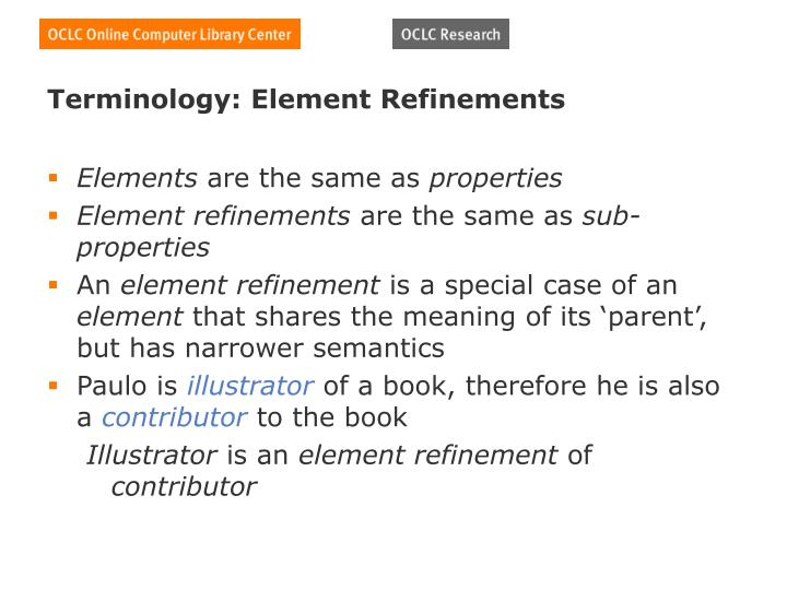Terminology: Element Refinements