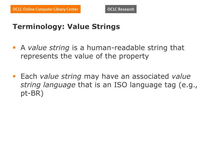 Terminology: Value Strings