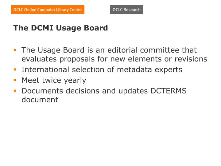 The DCMI Usage Board