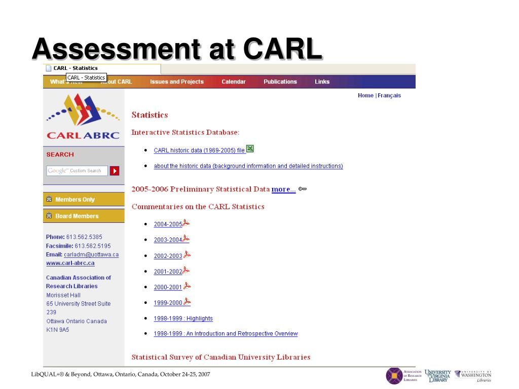 Assessment at CARL