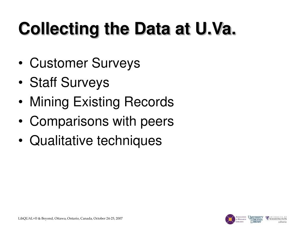 Collecting the Data at U.Va.