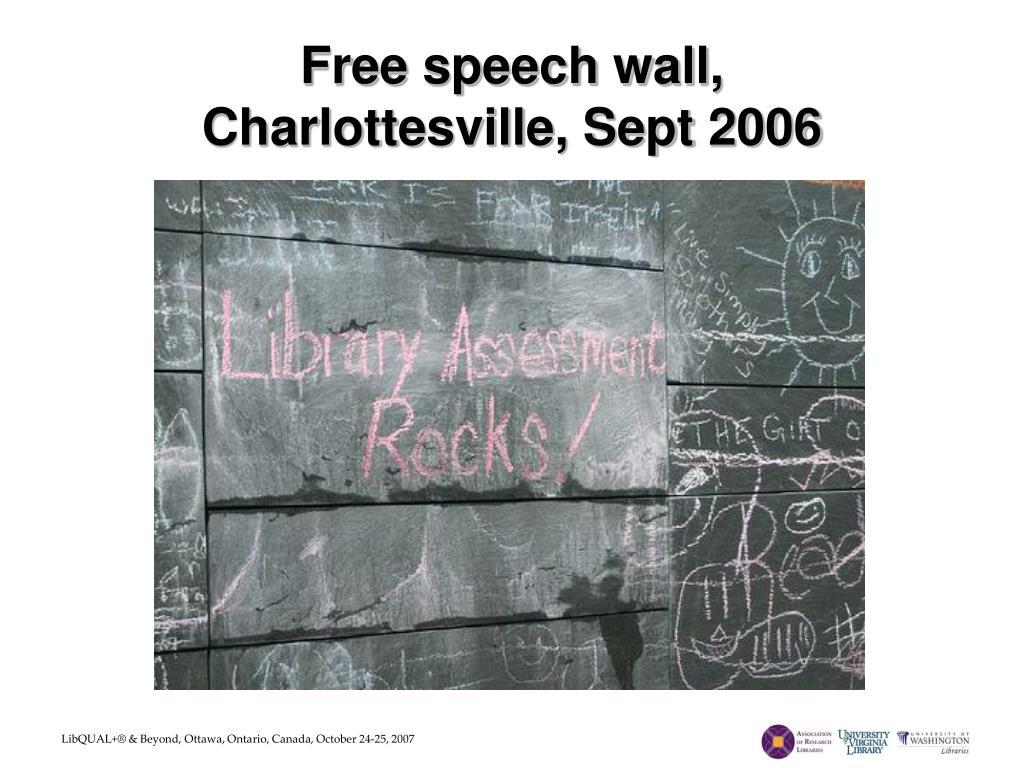 Free speech wall,