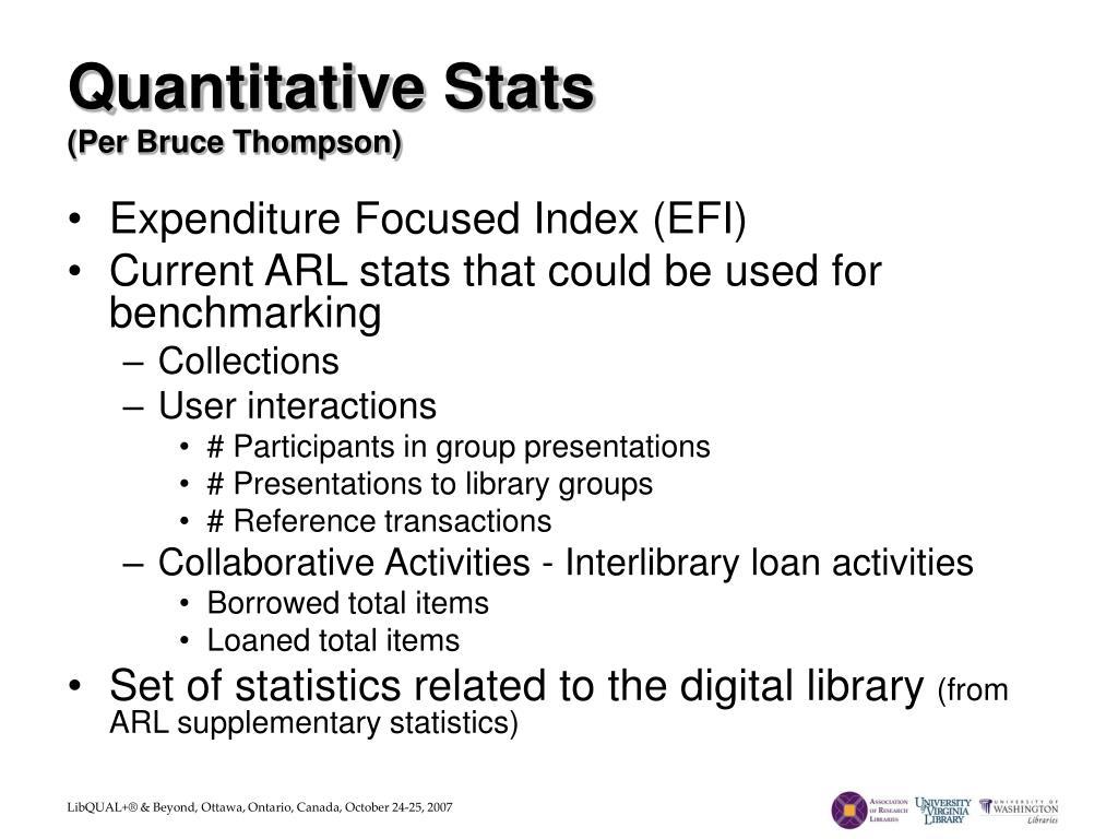 Quantitative Stats