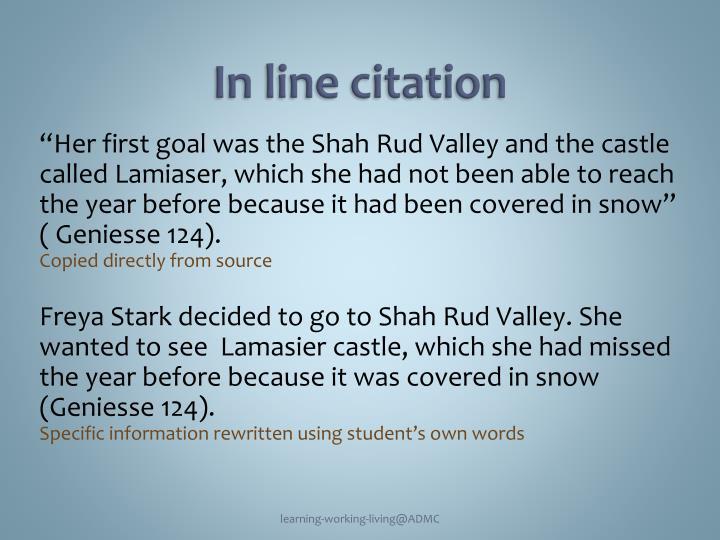 In line citation
