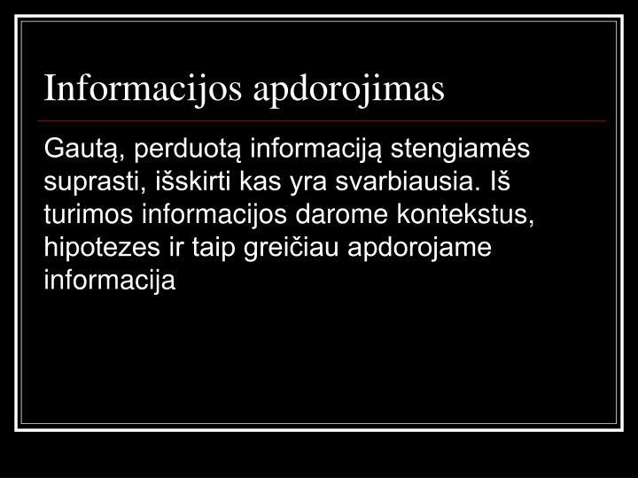 Informacijos apdorojimas