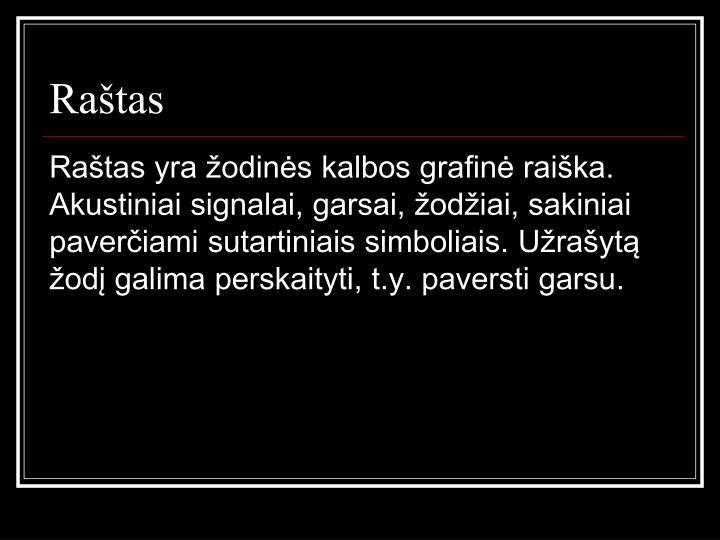 Raštas