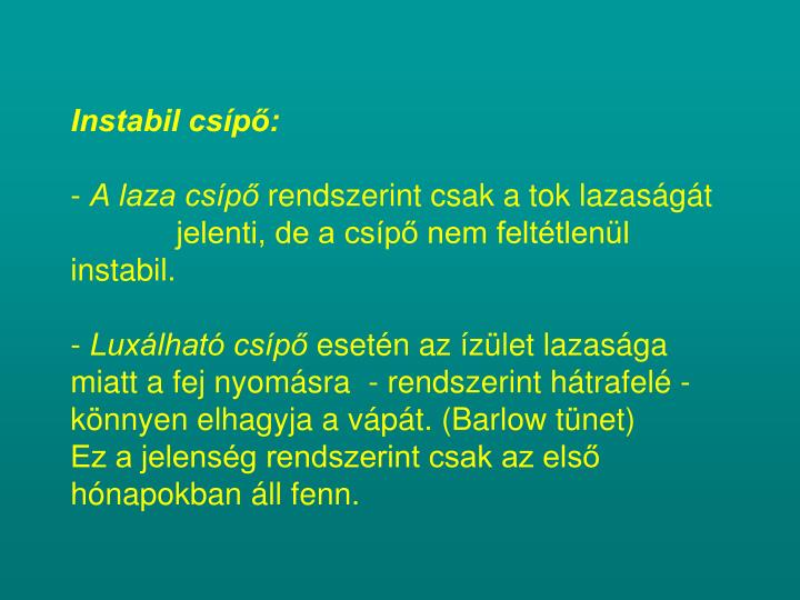 Instabil csípő: