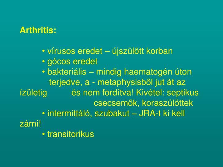 Arthritis:
