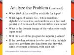 analyze the problem continued1