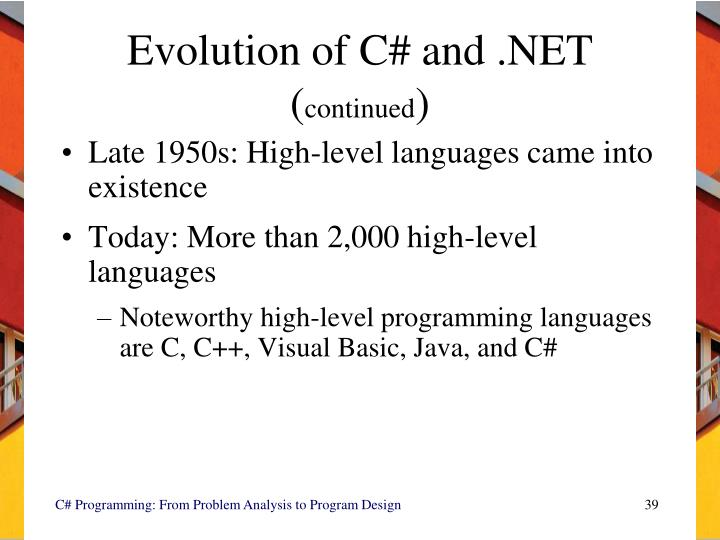Evolution of C# and .NET  (