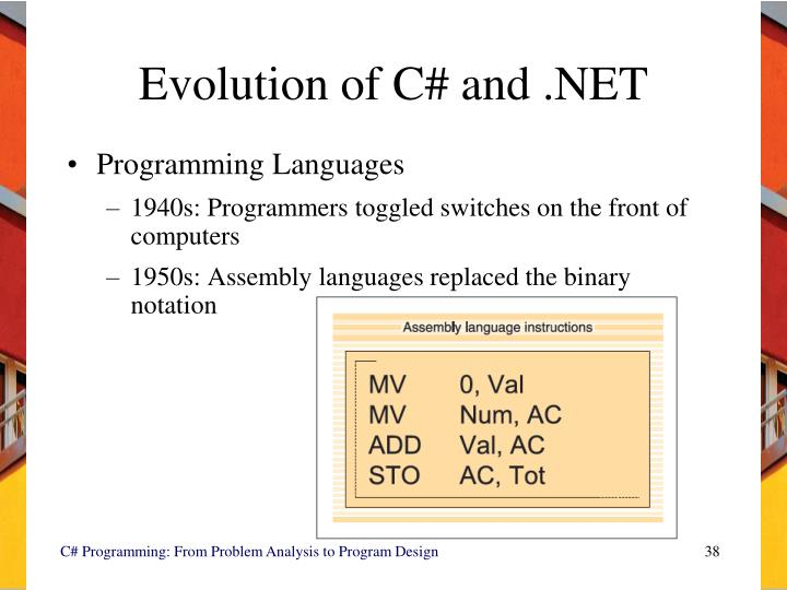 Evolution of C# and .NET