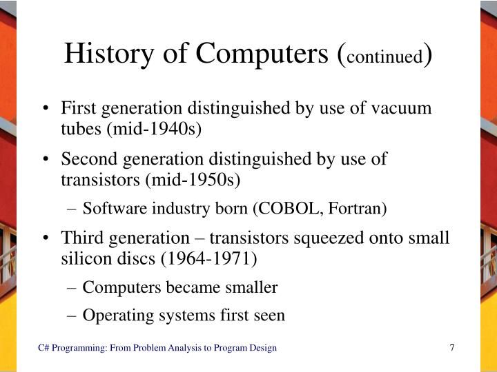 History of Computers (