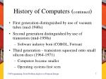 history of computers continued1