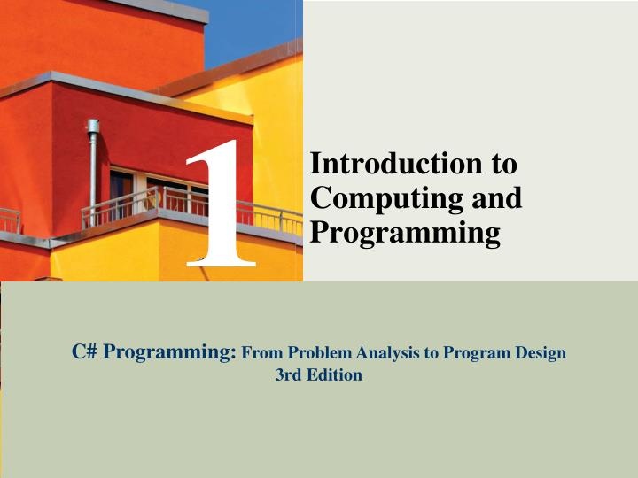 Introduction to computing and programming