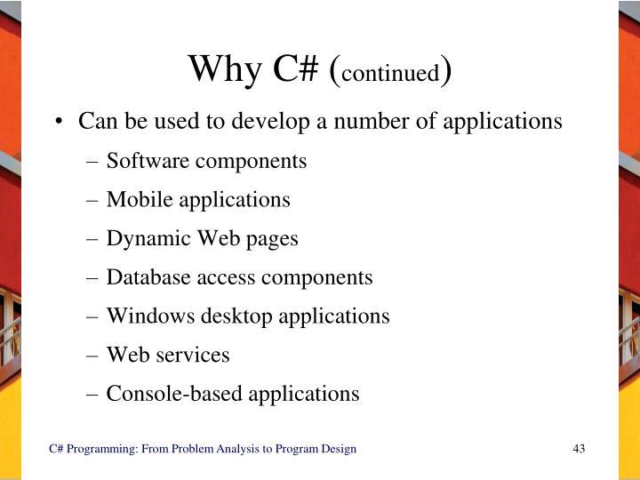 Why C# (