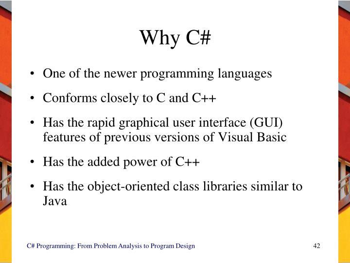 Why C#