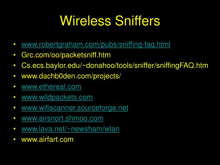 Wireless Sniffers