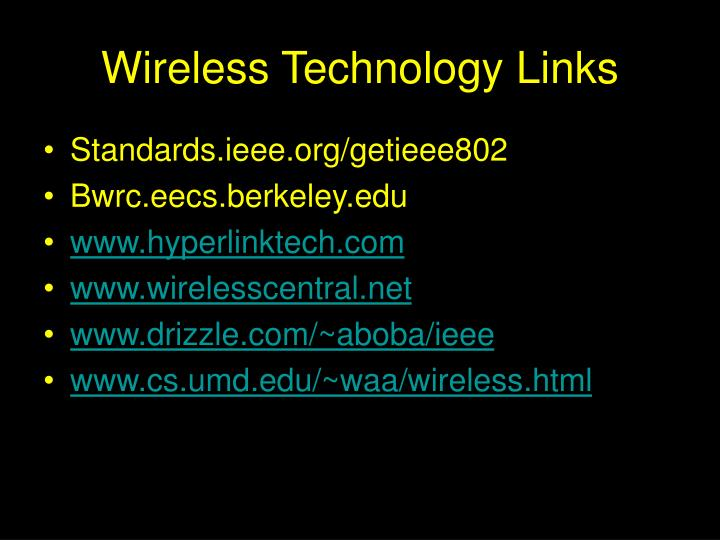 Wireless Technology Links