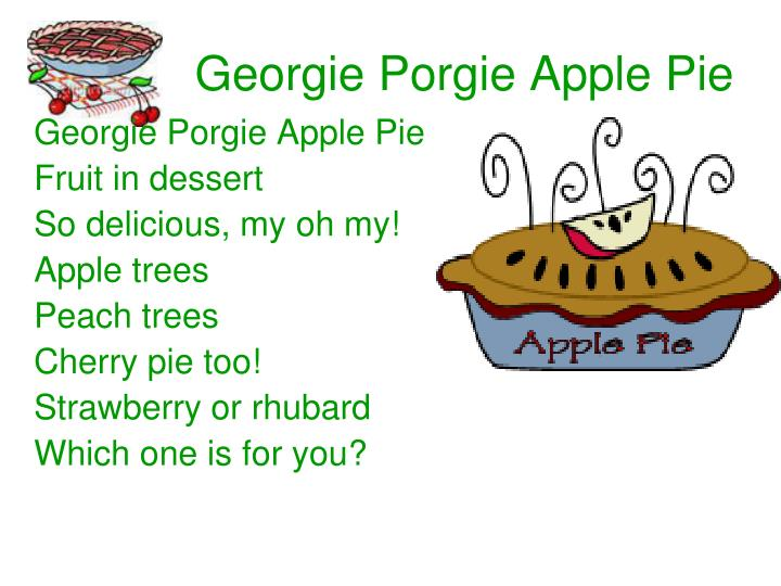 Georgie Porgie Apple Pie