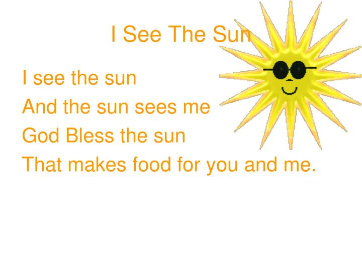 I See The Sun