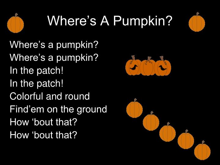 Where's A Pumpkin?