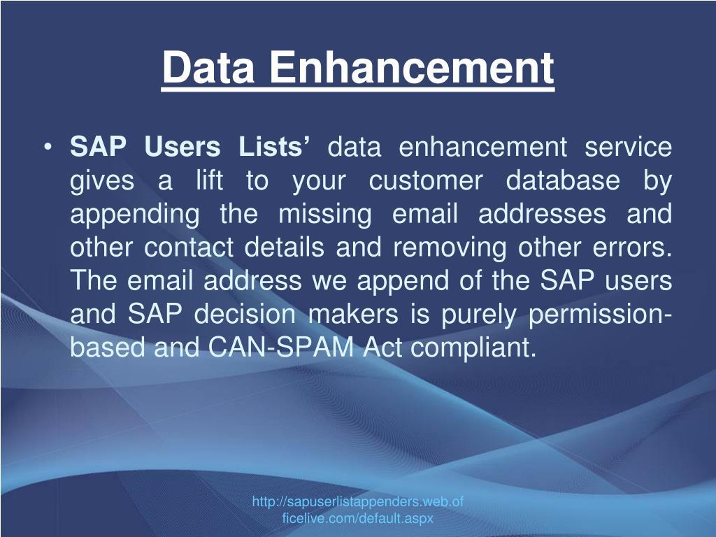Data Enhancement