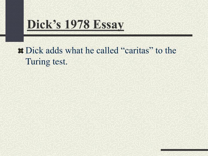 Dick's 1978 Essay
