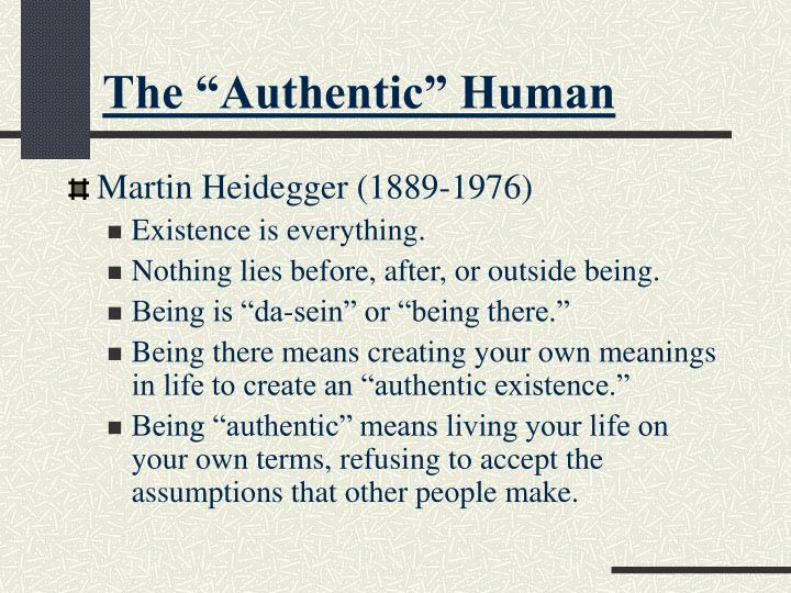 "The ""Authentic"" Human"