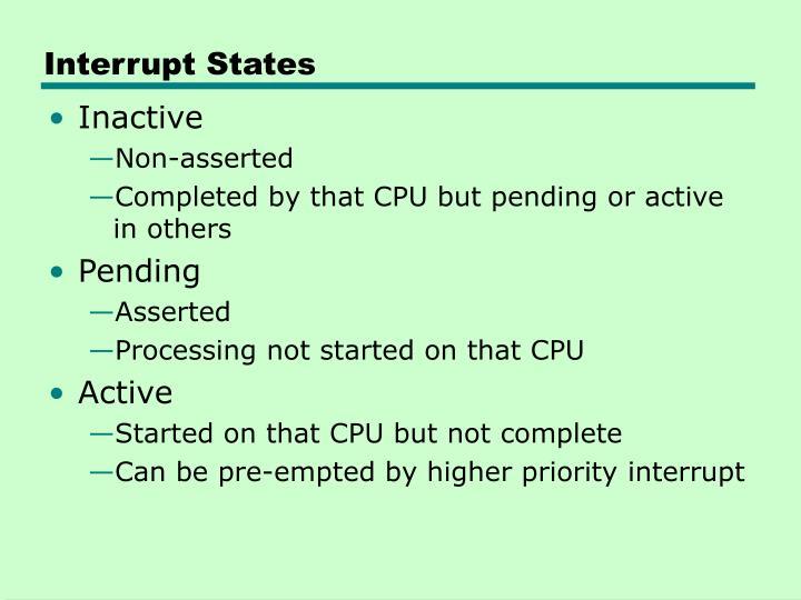 Interrupt States