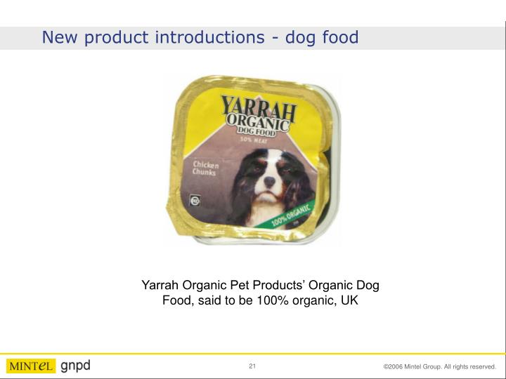 New product introductions - dog food
