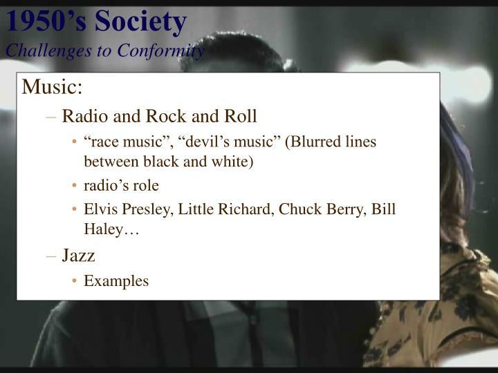1950's Society