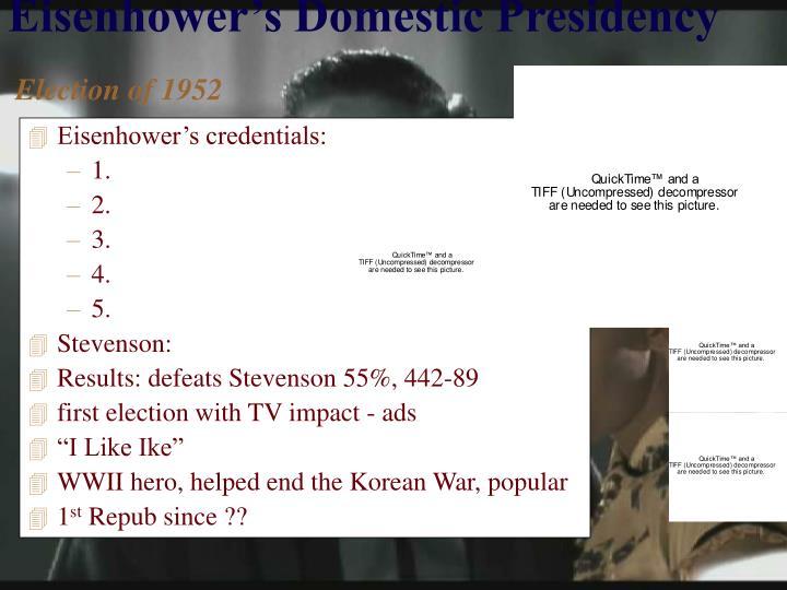 Eisenhower's credentials: