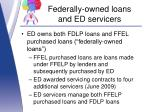 federally owned loans and ed servicers1