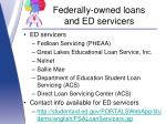 federally owned loans and ed servicers2