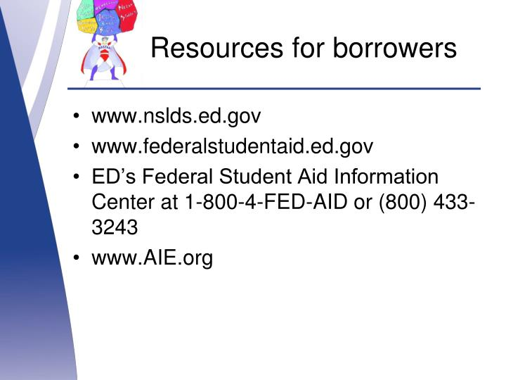 Resources for borrowers