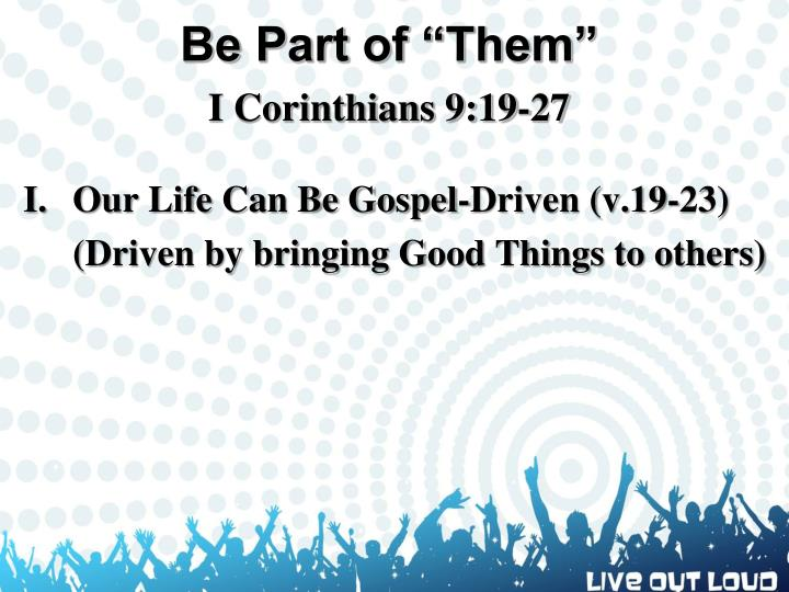 "Be Part of ""Them"""