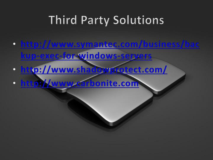 Third Party Solutions