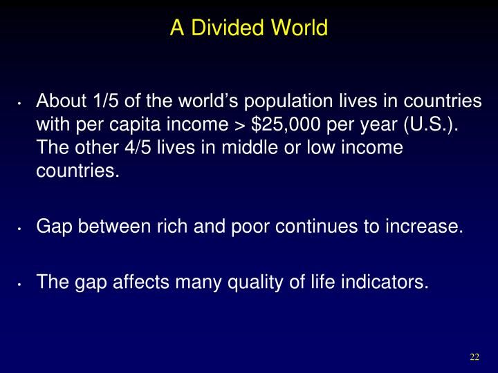 A Divided World