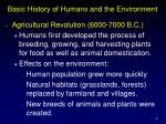 basic history of humans and the environment1