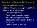 basic history of humans and the environment2