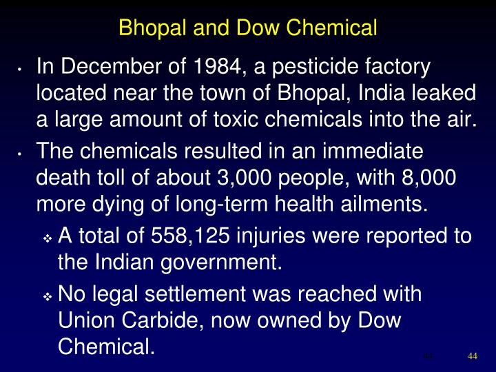 Bhopal and Dow Chemical