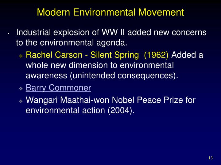 Modern Environmental Movement