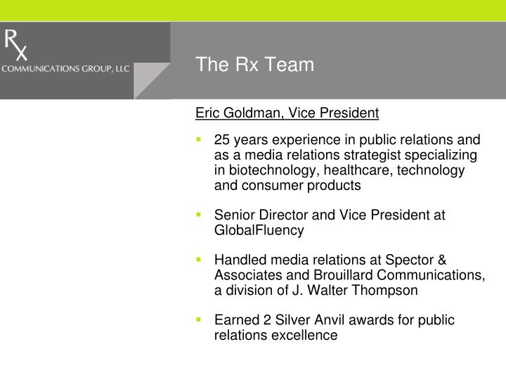 The Rx Team