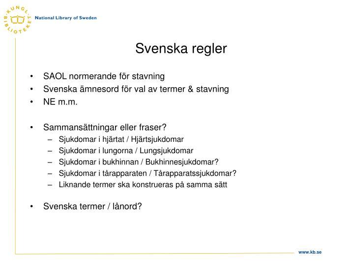 Svenska regler