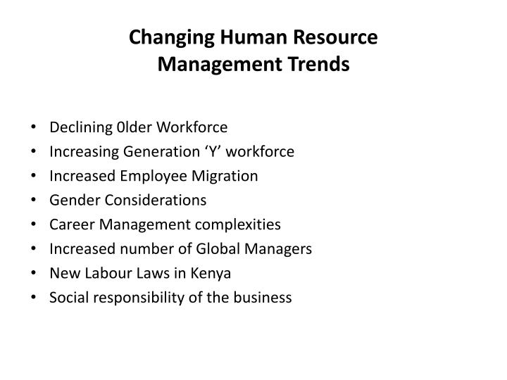 Changing Human Resource